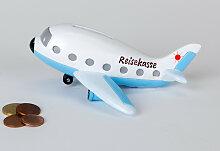 Spardose, Dekofigur Urlaubsflieger Flugzeug L.