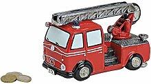 Spardose Feuerwehrwagen Breite 16 cm, Geschenk,