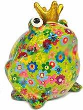 Spardose Frosch mit bunten Blumen. Pomme Pidou