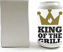Spardose Nostalgie Fun Grill King Keramik bedruck