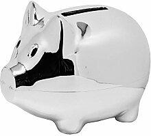 Spardose Schwein Versilbert Sparschwein Silber