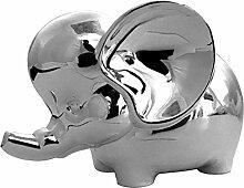 Spardose Sparbüchse Elefant aus Silber Plated