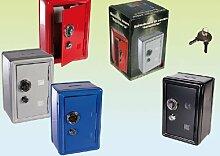 Spardose Sparbüchse Metall Tresor mit Schlüssel 1 Stück