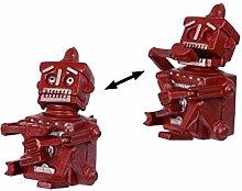Spardose Sparbüchse Roboter mit Funktion Gußeisen 17,6 cm