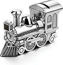 Spardose Sparbüchse Zug Lokomotive Lok Junge Mädchen Edel Gravur Brillibrum® Flyer Geschenke Geschenkidee Kinder (Spardose ohne Gravur)