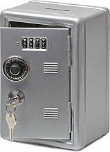 Spardose Tresor Safe Möbeltresor mit Zähler Farbe Metal