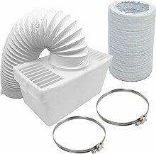 SPARES2GO Condenser Box & Extra Long Hose Kit With