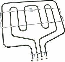 spares2go Dual Grill Heizelement für Bosch Ofen-/Herdarten geeignet (2300W)