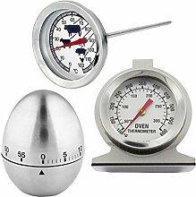 spares2go Edelstahl Fleisch Thermometer,