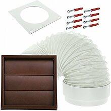 SPARES2GO Exterior Wall Venting Kit for Brown