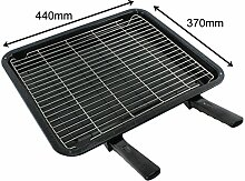 SPARES2GO Extra Large Grill Pan, Rack & Dual Detachable Handles for Neff Oven Cookers by Spares2go