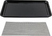 spares2go groß gläserne Emaille Ofen Backblech & Mesh Grill Food Tabelle