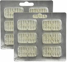 spares2go Lufterfrischer Parfum Tablet Sticks für