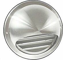 Spares2go Stainless Steel Round Bull Nosed External Extractor Wall Vent Outlet with Insect Mesh Grille (150mm, 6) by Spares2go