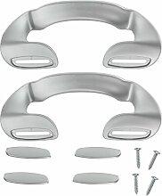 spares2go Tür Griff für IKEA Kühlschrank Gefrierschrank (190mm, silber, 2Stück)