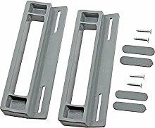 spares2go Tür Griff für Smeg-Kühlschränke (2Stück, 190mm, grau/silber)