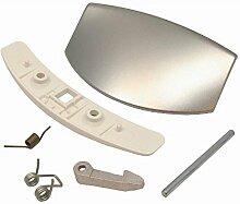 spares2go Tür Griff Kit für AEG Waschmaschine (grau/silber)