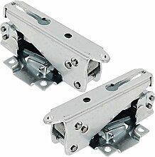 spares2go Tür Scharniere für Belling BUF120BUL160integrierter Kühlschrank mit Gefrierfach (Paar)