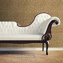 Sparkle-Tapete, texturiert, Gold - 701354