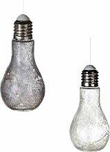 Sparpack 2 x Dekoleuchte Glühbirne zum Aufhängen