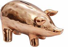 Sparschwein Keramik Silber Kupfer XXS - XXL