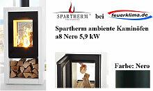 Spartherm ambiente a8 Nero 5,9 kW Kaminofen Schwedenofen Ofen