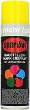 SparVar Bausignierspray Gelb (Überkopfdüse), 500 ml, Gelb, 6041209