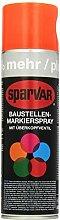 SparVar Bausignierspray Leuchtrotorange(Überkopfdüse), 500 ml, orange, 6041308