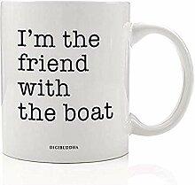 Spaß-Bootfahrt-Kaffeetasse-Geschenkidee Ich bin