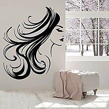 Spaß kreative Gesicht Wandaufkleber lange Haare