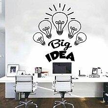 Spaß kreative Vinyl Wandaufkleber Büro große