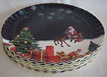Spatzenland Weihnachtsteller, flach 25 Stück
