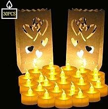 SPECOOL 30 PCS Teelichter Flameless flammenlose