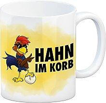 speecheese Hahn im Korb - Kaffeebecher mit coolem