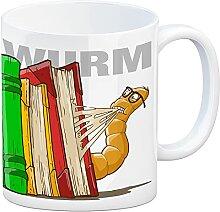 speecheese Kaffeebecher Bücherwurm für