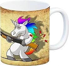 speecheese Kaffeebecher mit lustigem Einhorn mit