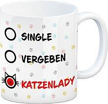 speecheese Kaffeebecher mit Motiv - Katzenlady