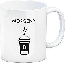 speecheese Morgens und Abends Kaffeebecher mit