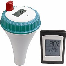 SPEED Funk Poolthermometer Digital Schwimmbad-Thermometer Funkthermometer Set Schwimmbecken Pool