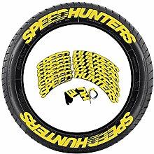 SPEED HUNTERS Reifenaufkleber, Autoreifen