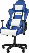 Speedlink Verstellbarer Stuhl mit Armlehnen - Regger Gaming Chair Chefsessel für Gamer (Bürostuhl höhenverstellbar - Rückenlehne einstellbar Neigungswinkel (90-165°) inklusive Liegeposition - mit Kissen und Wippmechanik) blau