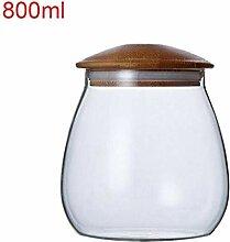 Speicher-Gläser Glas mit Luftdichtes Bambus