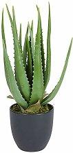 Spetebo Aloe Vera Kunstpflanze im Topf - 45 cm -