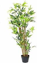 Spetebo Bambus Kunstpflanze im Blumentopf - 115 cm