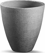 Spetebo Blumenkübel im Rillen Design - 39 x 42 cm