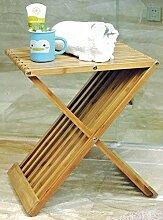 Spetebo Design Bambus Klapphocker - Holz Hocker