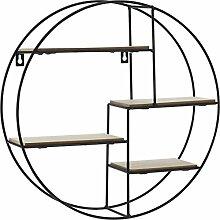 Spetebo Design Wandregal 40 cm - 4 Holz Ablagen -