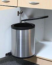 Spetebo Edelstahl Einbau Mülleimer - 12 Liter -