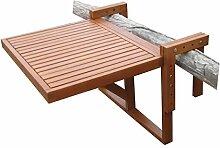 Spetebo Eukalyptus Balkontisch - 60x45 cm - Holz