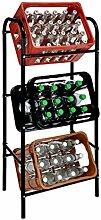 Spetebo Getränkekistenregal für 3